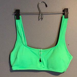 AERIE neon green bathing suit top